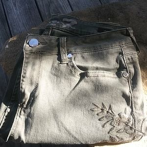 Seven sage green jeans size 12